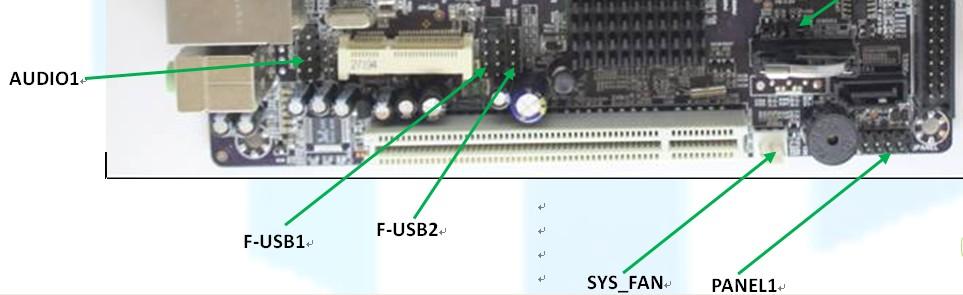 电脑电源线接法(收银机)小的三根是电源的,大的是连到图片