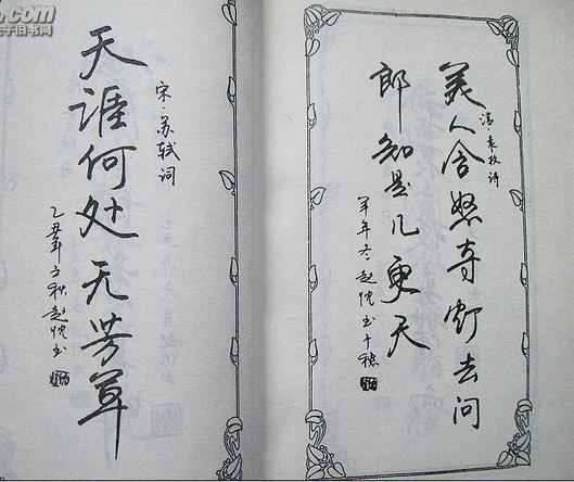 纯行书钢笔字作品欣赏图片