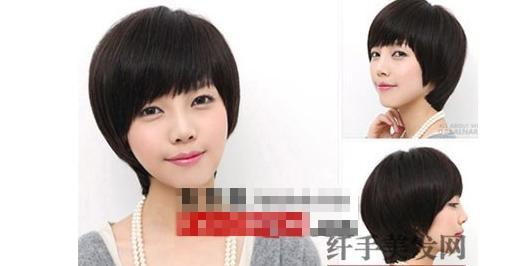 第二款发型可以提升气质,显得干净利落,还会显得脖子长,个子高.图片