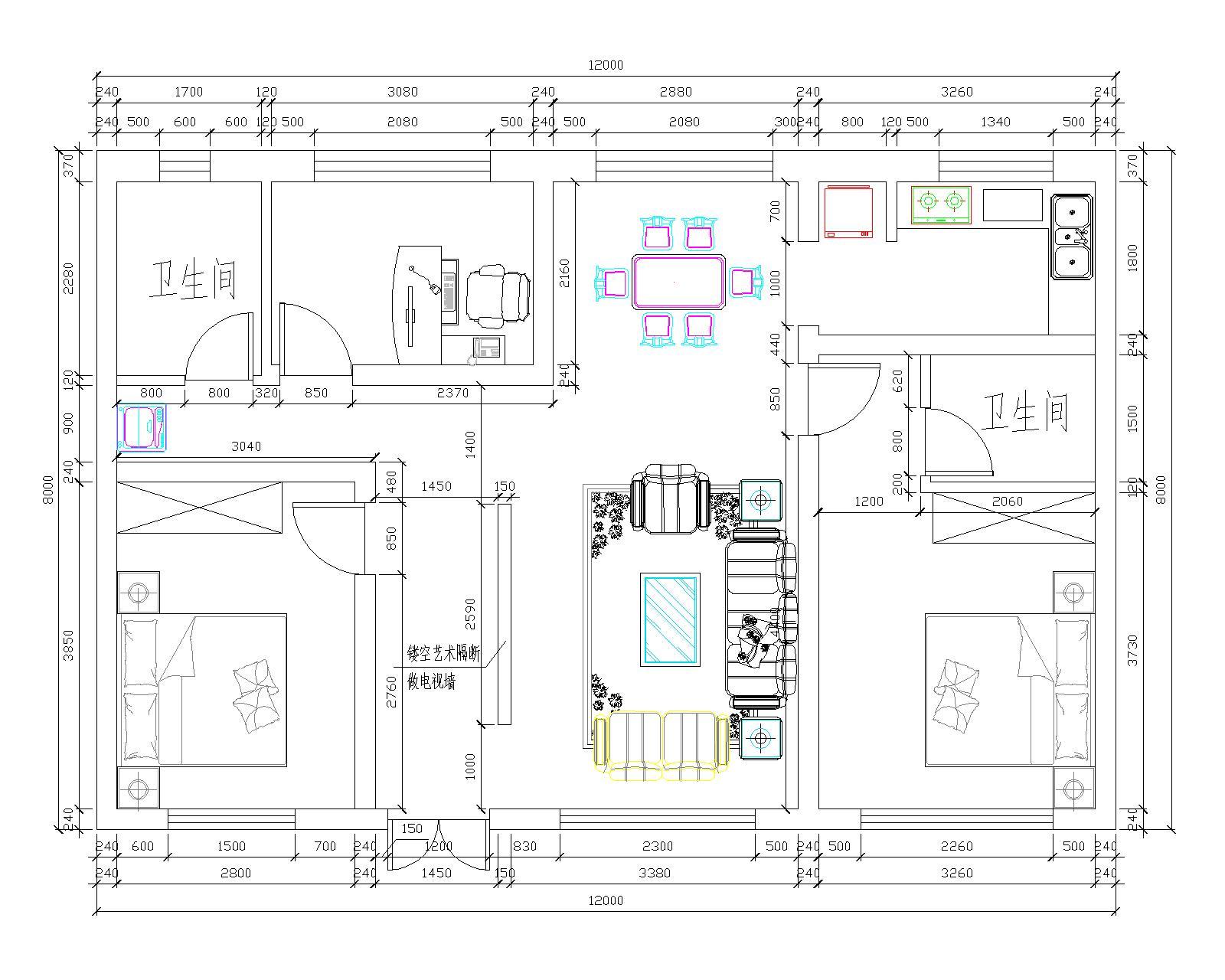 我的房子南北长13米东西宽9米怎么设计房间和客厅啊图片