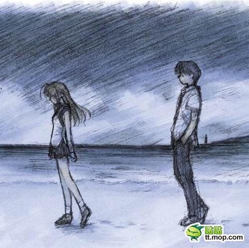 情侣伤感分手图片_