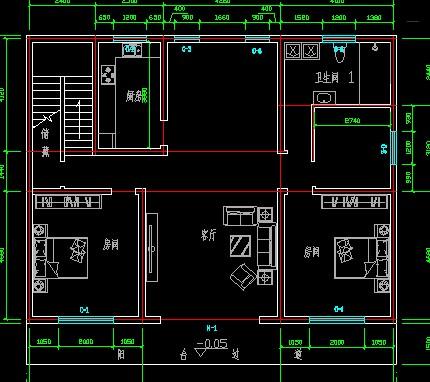房子设计图宽10.5米长14米怎么设计砖混三个卧室一个图片