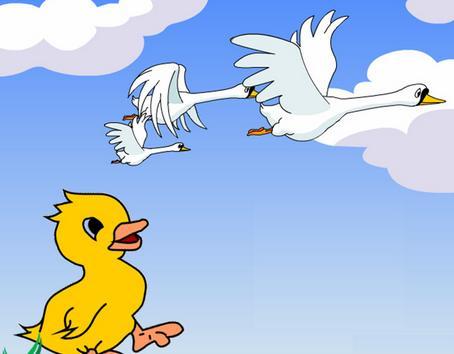 《丑小鸭》变成白天鹅后生活有什么改变?图片