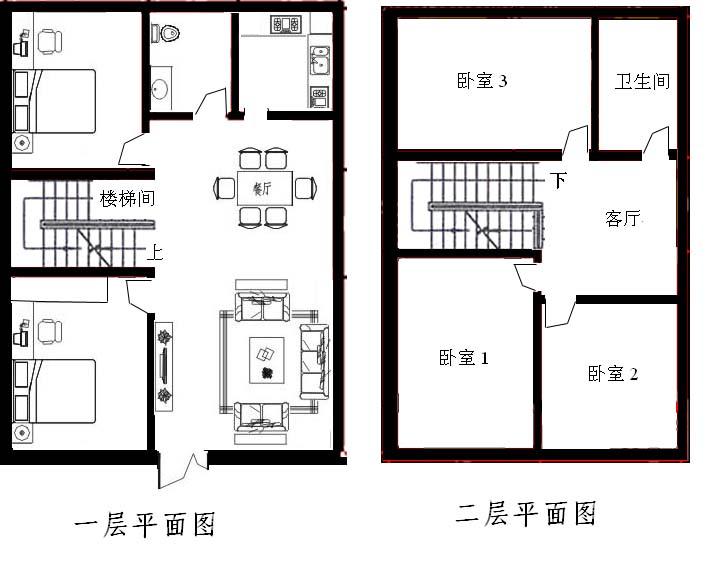 90平方米房屋设计平面图图片