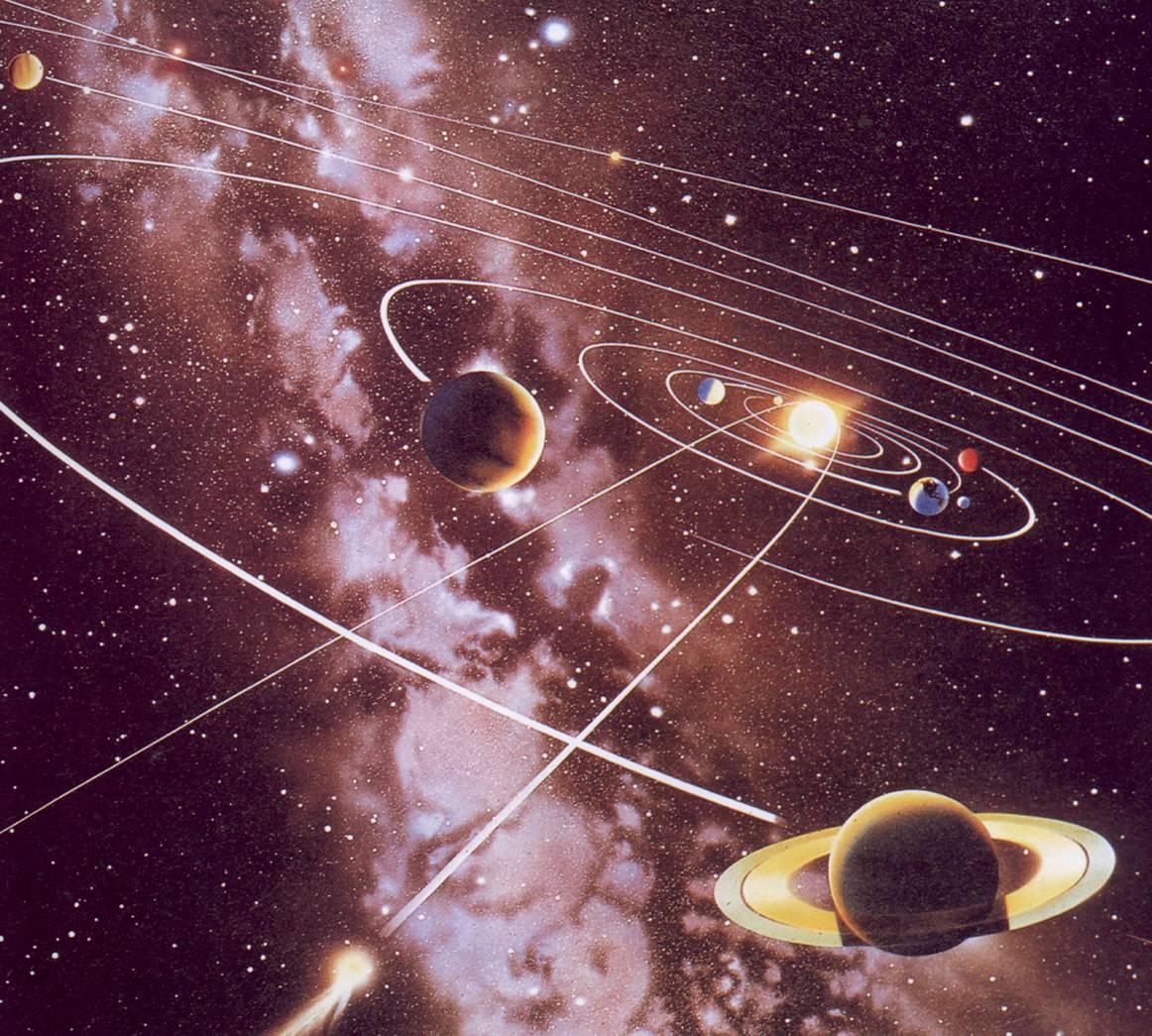 八大行星轨道俯视图 八大行星轨道俯视图 八大行星动态图