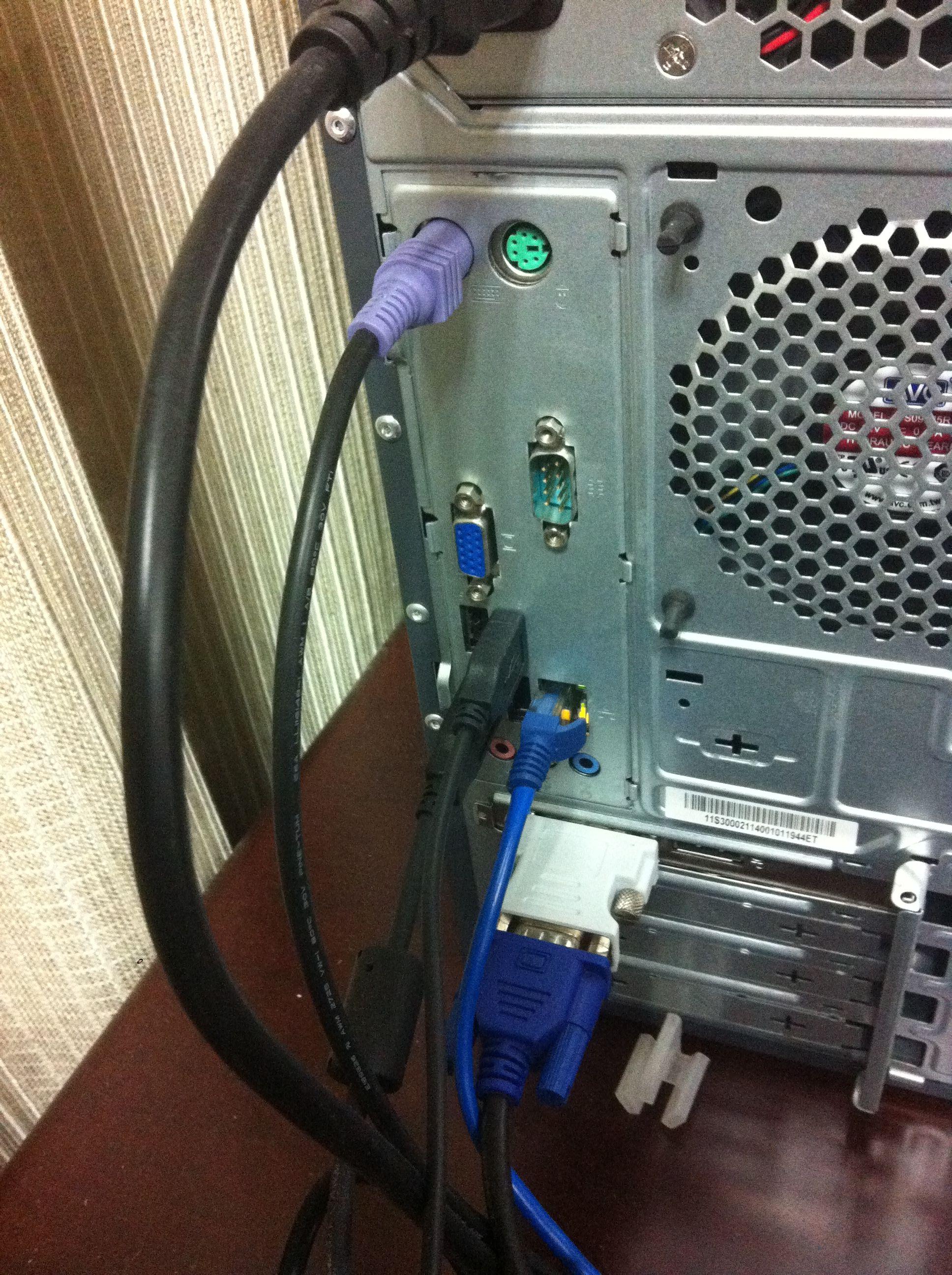 接笔记本 主机显示器连接线 电脑主机背面连接图图片