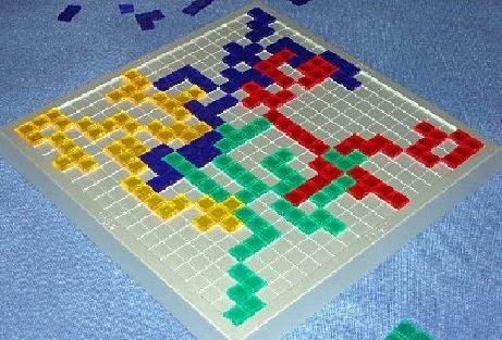 分类:游戏 桌游方格游戏角斗士俄罗斯方块棋一般在图片