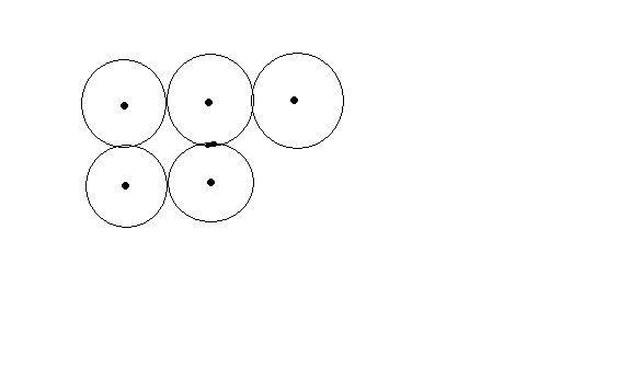 画三个同样大的圆,组成的图形只有三条对称轴,怎么画图片