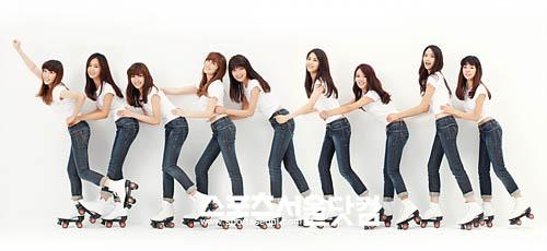 少女时代gee的滑冰鞋 有一张图是