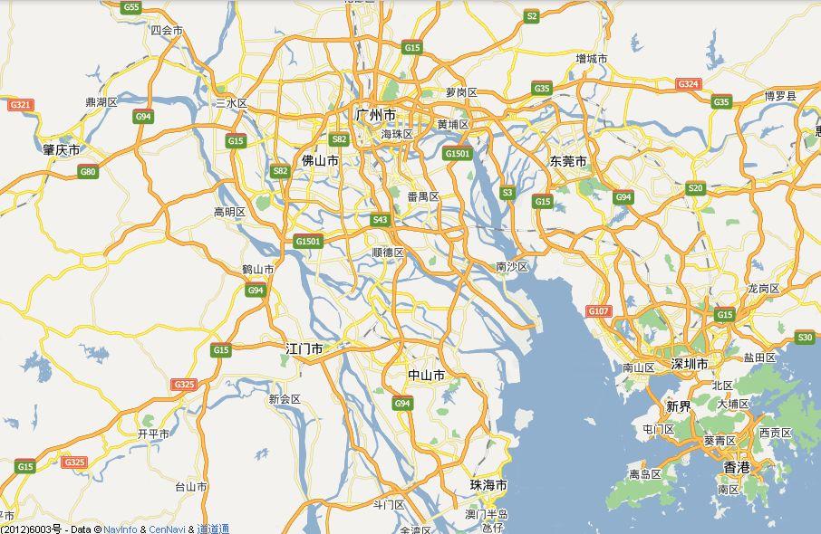想知道:广州市 珠海,中山