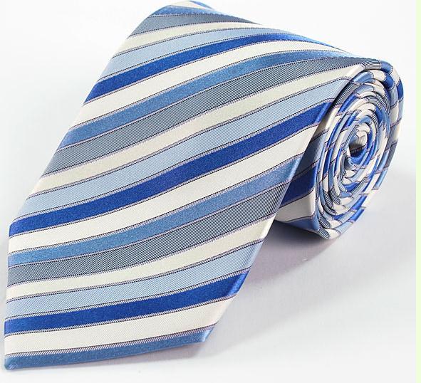蓝色衬衫配什么领带