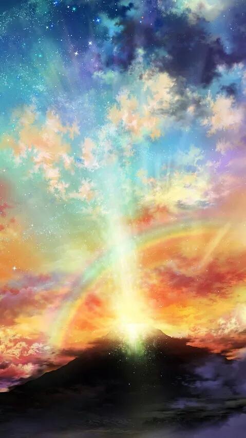 求一些高清二次元天空 用做背景图片