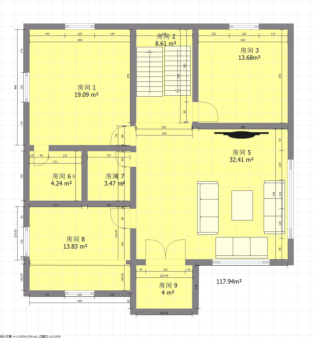 楼梯别墅设计施工图 别墅设计图纸农村房屋设计