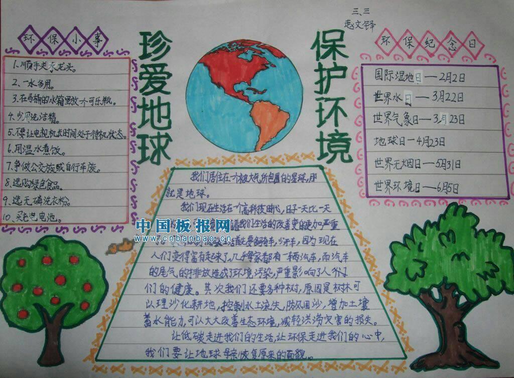保护地球的手抄报可写什么内容?用英文表达!谢了图片