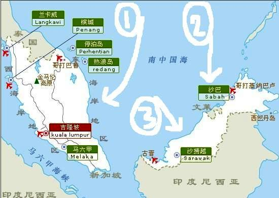 马来西亚沙巴地理位置