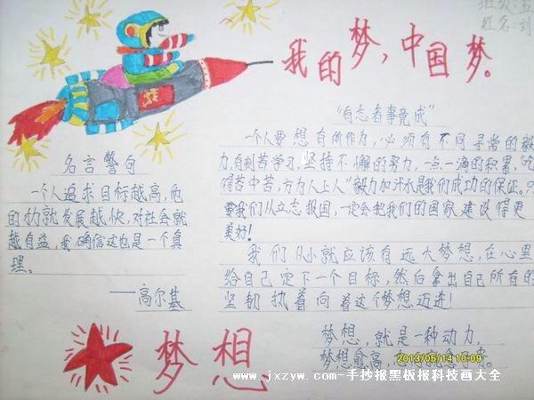 同心共筑中国梦手抄报内容可以写什么