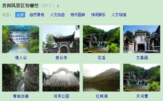 贵阳城有哪些景点