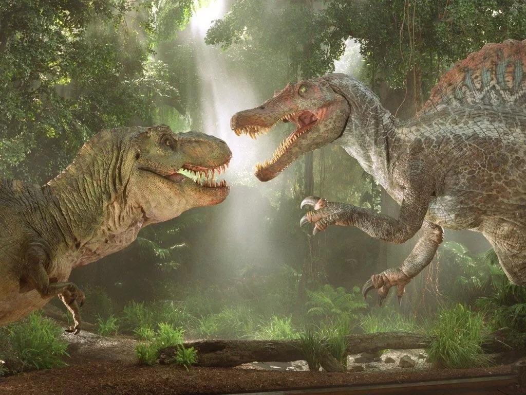 那就是每部电影里面都会有一只恐龙把整个岛或者整个城市搅得鸡犬不宁