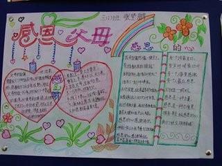 二年级手抄报感恩父母带花边的点缀有哪些  感恩手抄报内容  主题