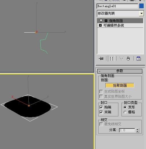 3d的倒角剖面怎么做不了图片