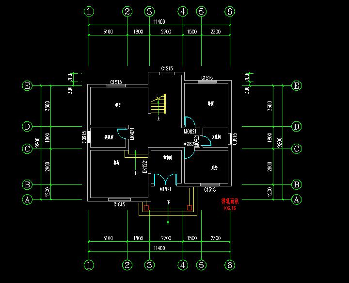 求农村二层小楼房屋设计图