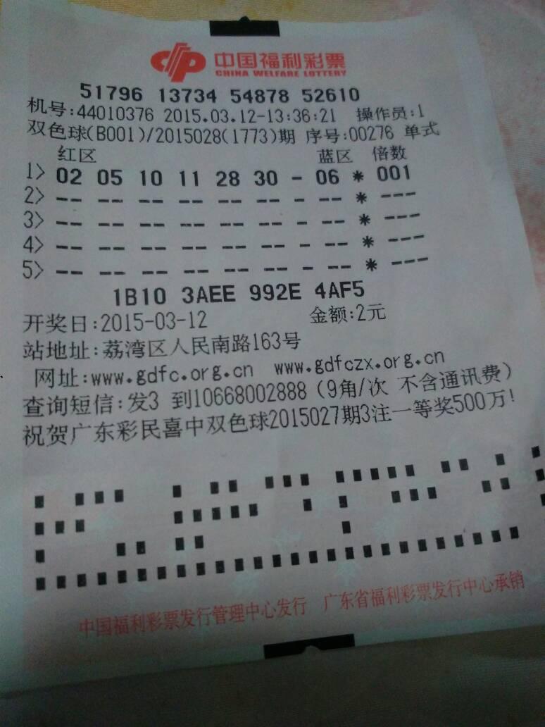 2015年12月6日,中国福利彩票双色球开奖号码是多少.