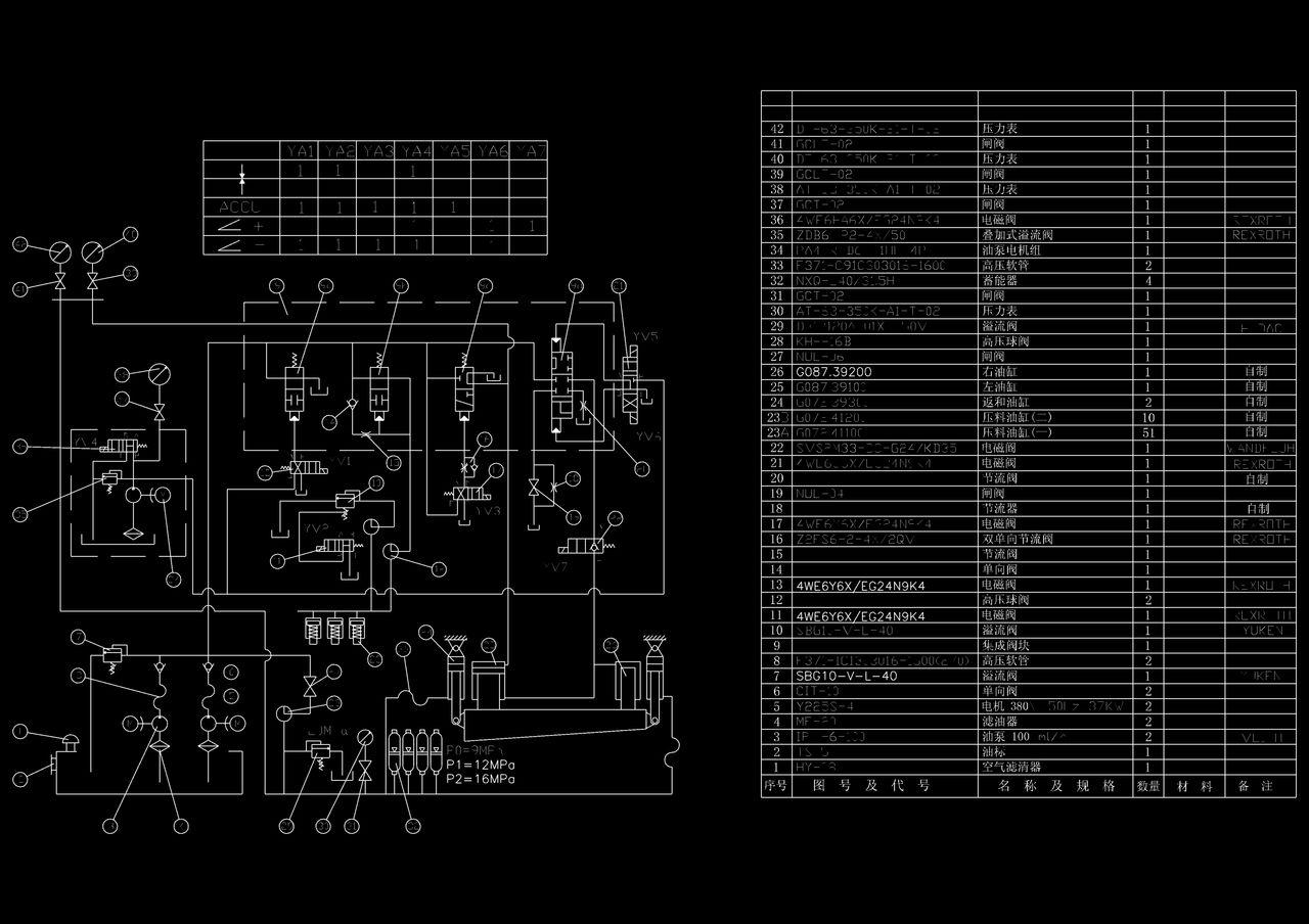 液压剪板机压料缸怎么提前动作怎么实现?压料缸回程怎么实现?图片