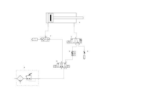 """设计能实现气缸""""快进---慢进---快退""""的气动回路,并说明工作原理.图片"""