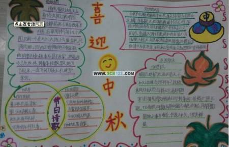 有关中秋节的手抄报怎么写?