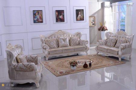 欧式大沙发摆放效果图