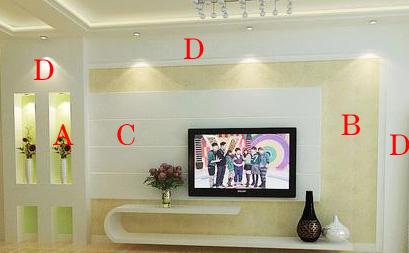 家中的电视墙想用硅藻泥造型,求颜色花纹