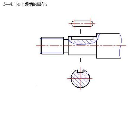 键槽的画法_键槽有轴线吗?