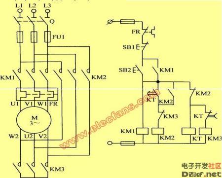 请问 星三角 降压 启动 电气原理图共有几种画法?图片