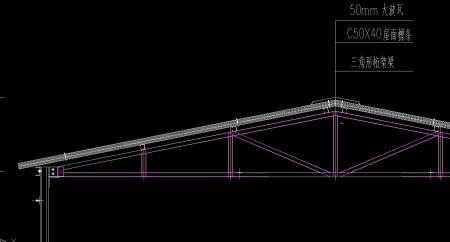 要做一个钢结构房子,三角形桁架梁用多大的 ?用什么钢图片