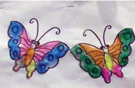 如何教小孩子画蝴蝶图片
