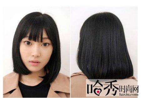 一直是平刘海长头发,突然想换个发型……学生哦…不知到短发会不会图片