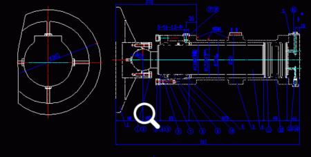 求活塞式液压缸装配图及零件图图片