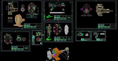 求齿轮油泵的cad装配图和零件图图片