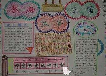有关汉字的手抄报图片