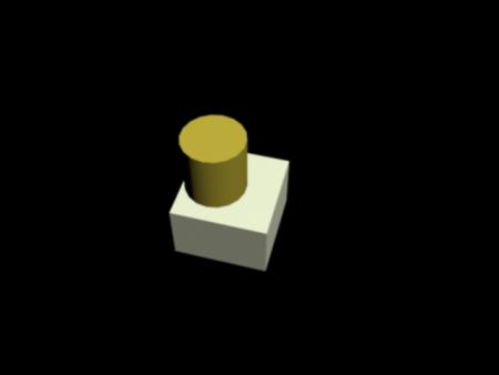 max中怎么在正方体的其中一个面做一个底面与正方体的顶面相切的图片