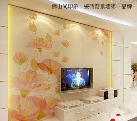 2014年最新贴瓷砖的电视背景墙图片