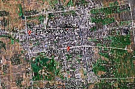 河南省驻马店市上蔡县的 卫星地图-google卫星地图上的锦绣 河南 河南图片