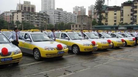 福州黄色捷达出租车是哪个出租车公司的图片