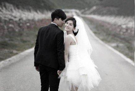 谢娜与张杰的婚纱