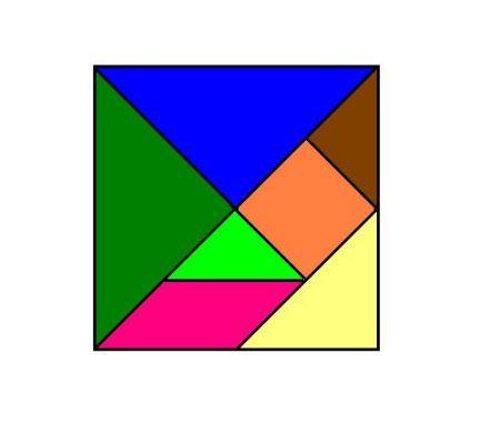 用七巧板拼成图形 七巧板山羊图形 七巧板图形手抄报 用图形拼成的小图片