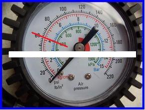 轮胎气压表怎么看_百度知道图片