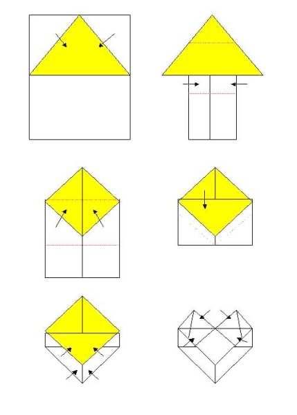 简单的心形折叠图片