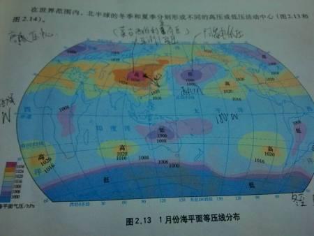 为何北半球两地气压中心一个高一个低图片