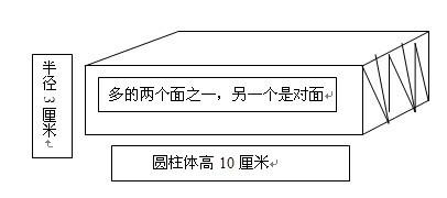 同问 推到圆柱形体积公式时,将一个底面半径3厘米的圆柱等分成若图片