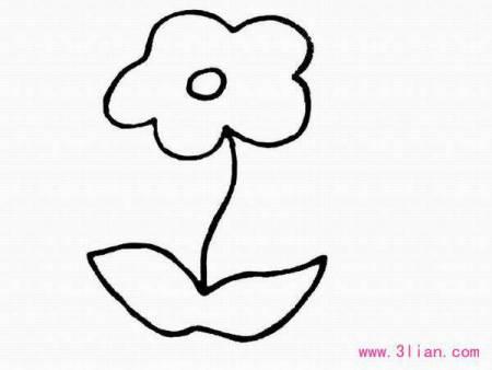 关于花的简笔画_简笔画的花